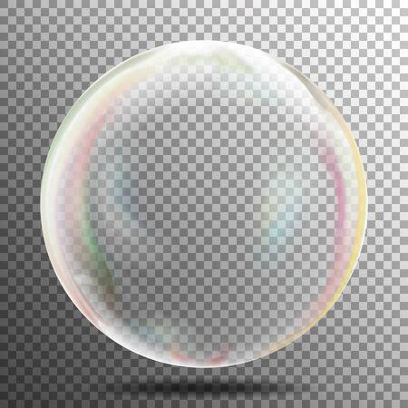 Soap Bubble. Realistic Illustration. Air Bubble