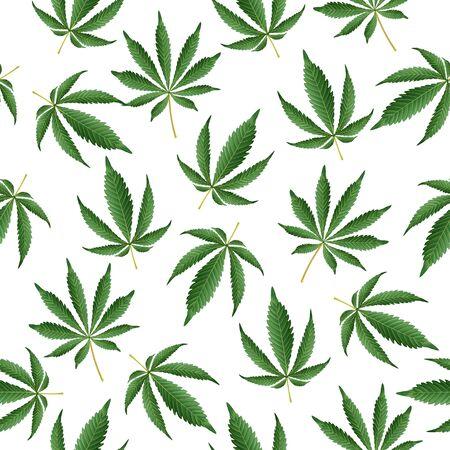 Cannabis Background. Seamless Pattern Hashish Narcotic.