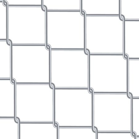 Chain Link Fence Background. Industrial Style Wallpaper. Realistic Geometric Texture. Steel Wire Wall