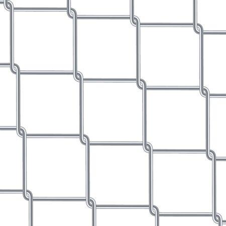 Kettenglied-Zaun-Hintergrund. Tapete im Industriestil. Realistische geometrische Textur. Stahldrahtwand