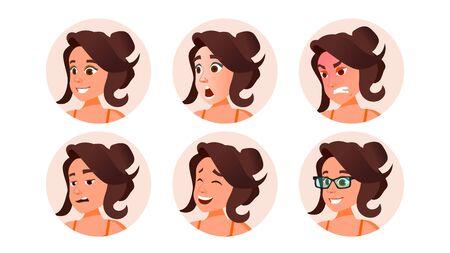 Business Avatar Woman . Beautiful Female. Modern Employer. Isolated Cartoon Character Illustration