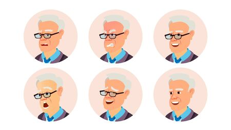 Avatar Man . Beautiful Male. Modern Employer. Isolated Cartoon Character Illustration