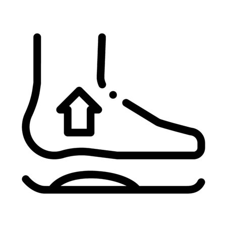 Medical Orthopedic Foot Equipment Vector Icon Thin Line. Orthopedic And Trauma Rehabilitation, Belt And Walkers Concept Linear Pictogram. Medicine Rehab Goods Monochrome Contour Illustration