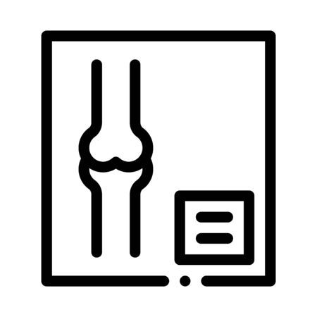 Bone X-ray Image Of Human Joints Orthopedic Vector Icon Thin Line. Orthopedic And Trauma Rehabilitation, Belt And Walkers Concept Linear Pictogram. Medical Rehab Goods Monochrome Contour Illustration