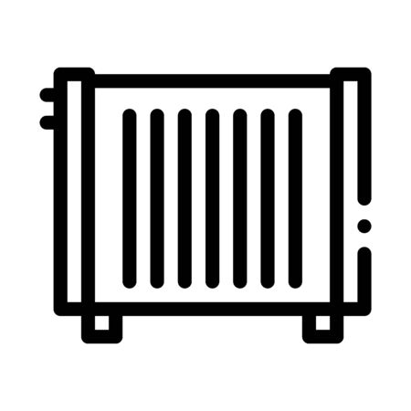Home Water Radiator Heating Equipment Vector Icon Thin Line. Cool And Humidity, Airing, Ionisation And Heating Concept Linear Pictogram. Conditioning Related Monochrome Contour Illustration Stock Illustratie