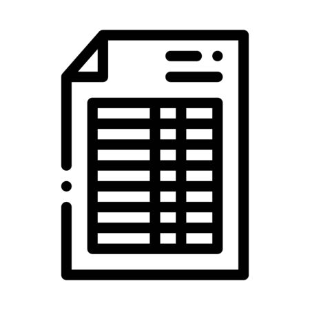 Price List Financial Document File Vector Icon Thin Line. Money On Smartphone Display And Magnifier, Web Site Financial Concept Linear Pictogram. Invoice Monochrome Contour Illustration