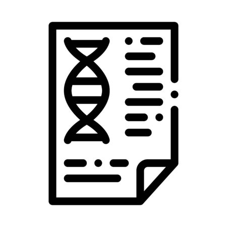 Molecule Biomaterial Chemistry Report File Vector Icon Thin Line. Biology And Science Flasks, Bioengineering, Dna And Medicine Biomaterial Concept Linear Pictogram. Monochrome Contour Illustration