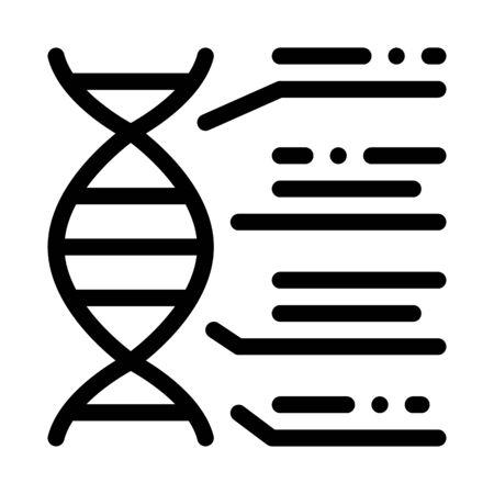 Molecule Chemical Consist Biomaterial Vector Icon Thin Line. Biology And Science Flasks, Bioengineering, Dna And Medicine Biomaterial Concept Linear Pictogram. Monochrome Contour Illustration Illusztráció