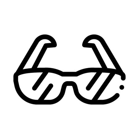 Sport Spectacles Alpinism Equipment Vector Icon Thin Line. Compass And Glasses, Mountain Direction And Burner Mountaineering Alpinism Equipment Concept Linear Pictogram. Contour Outline Illustration