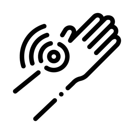 Hand Ache Icon Vector. Outline Hand Ache Sign. Isolated Contour Symbol Illustration