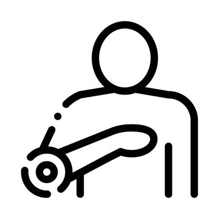 Heartache Icon Vector. Outline Heartache Sign. Isolated Contour Symbol Illustration