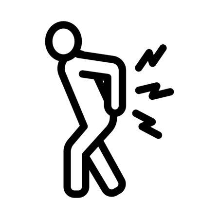 Arthritis Icon Vector. Outline Arthritis Sign. Isolated Contour Symbol Illustration Vector Illustration