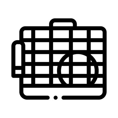 Cage for Hamster Icon Vector. Outline Cage for Hamster Sign. Isolated Contour Symbol Illustration