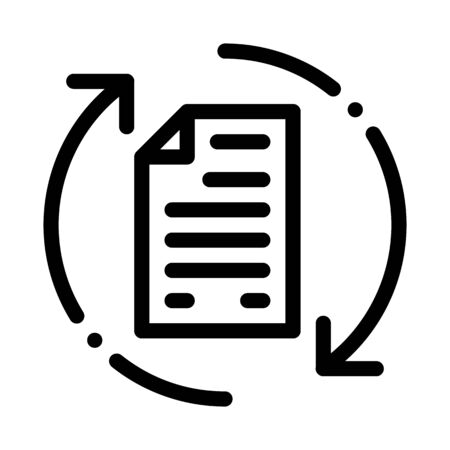Document Cycle Icon Vector. Outline Document Cycle Sign. Isolated Contour Symbol Illustration Vektoros illusztráció