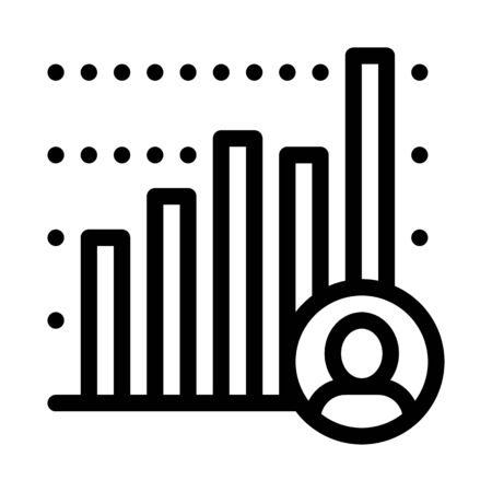 Candidate Statistics Icon Vector. Outline Candidate Statistics Sign. Isolated Contour Symbol Illustration