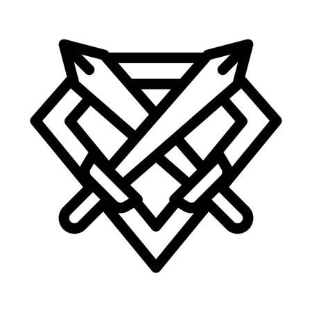 Emblem of Defender Icon Vector. Outline Emblem of Defender Sign. Isolated Contour Symbol Illustration Иллюстрация