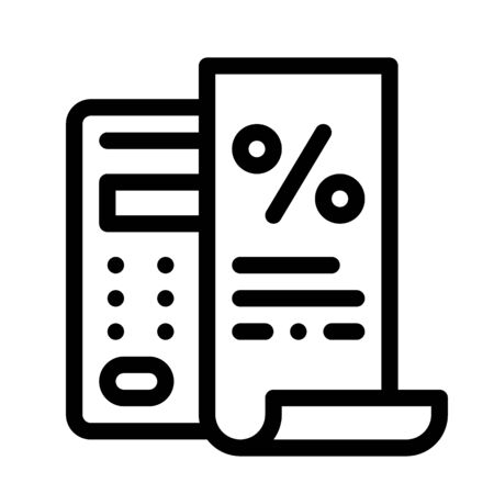 Check with Mathematical Interest Calculations Icon Vector. Outline Check with Mathematical Interest Calculations Sign. Isolated Contour Symbol Illustration
