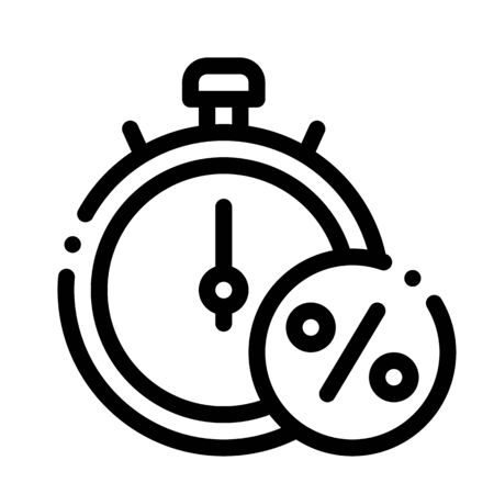 Time is Interest Icon Vector. Outline Time is Interest Sign. Isolated Contour Symbol Illustration Illustration