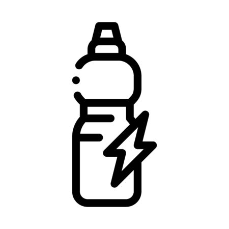 Energy Drink in Bottle Icon Vector. Outline Energy Drink in Bottle Sign. Isolated Contour Symbol Illustration