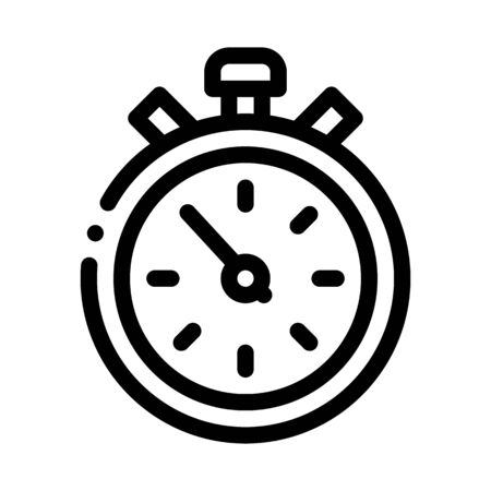 Competition Sport Stopwatch Icon Vector. Outline Competition Sport Stopwatch Sign. Isolated Contour Symbol Illustration