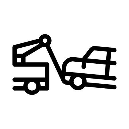 Escape Machine Truck Icon Vector. Outline Escape Machine Truck Sign. Isolated Contour Symbol Illustration