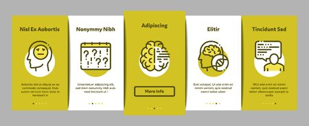 Alzheimers Disease Onboarding Mobile App Page Screen. Brain And Drugs, Wheelchair And Man Silhouette With Alzheimers Illness Concept Illustrations 向量圖像