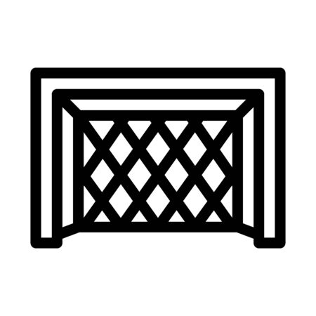 Football Goal Gate Icon Vector. Outline Football Goal Gate Sign. Isolated Contour Symbol Illustration