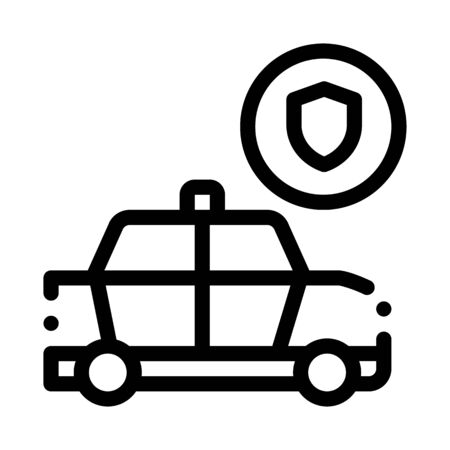 Police Car Machine Icon Vector. Outline Police Car Machine Sign. Isolated Contour Symbol Illustration Illustration