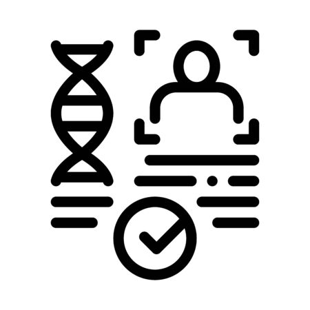Confirmation Dna File Icon Vector. Outline Confirmation Dna File Sign. Isolated Contour Symbol Illustration