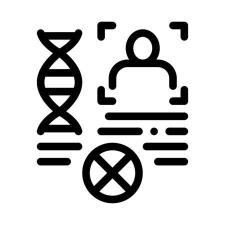 Rebuttal Paternity File Icon Vector. Outline Rebuttal Paternity File Sign. Isolated Contour Symbol Illustration