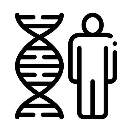 Human And Molecule Dna Icon Vector. Outline Human And Molecule Dna Sign. Isolated Contour Symbol Illustration Illusztráció