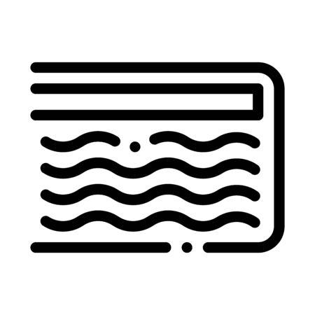 Mattress Memory Foam Icon Vector. Outline Mattress Memory Foam Sign. Isolated Contour Symbol Illustration