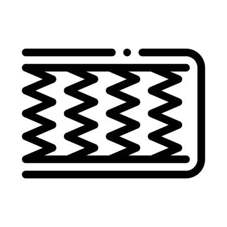 Mattress Metal Springs Icon Vector. Outline Mattress Metal Springs Sign. Isolated Contour Symbol Illustration