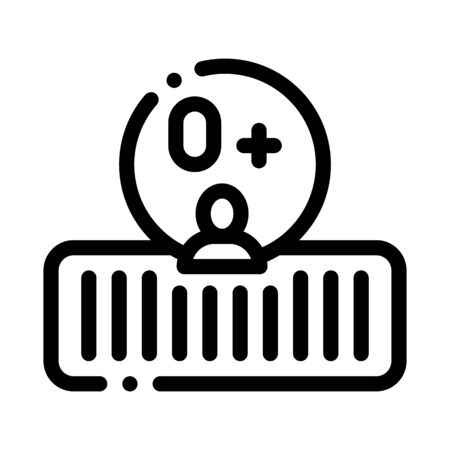 Soft Orthopedic Mattress Icon Vector. Outline Soft Orthopedic Mattress Sign. Isolated Contour Symbol Illustration 일러스트