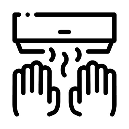 Hand Drying Air Wipe Icon Vector. Outline Hand Drying Air Wipe Sign. Isolated Contour Symbol Illustration Banco de Imagens - 137670637