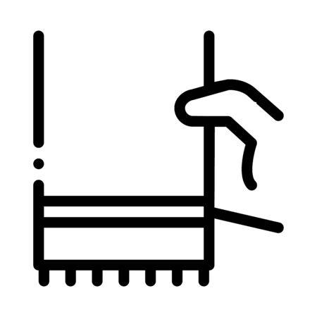 Hand houden stof servet pictogram Vector. Overzicht Hand Hold stof servet teken. Geïsoleerde contoursymboolillustratie