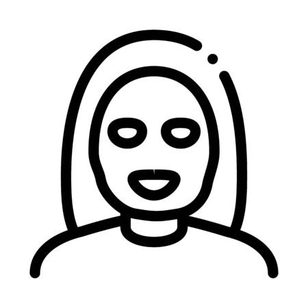 Woman Healthcare Mask Icon Vector. Outline Woman Healthcare Mask Sign. Isolated Contour Symbol Illustration Ilustración de vector