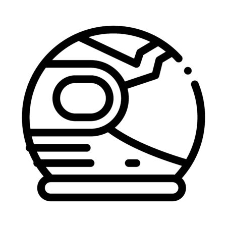 Spaceman Helmet Mask Icon Vector. Outline Spaceman Helmet Mask Sign. Isolated Contour Symbol Illustration