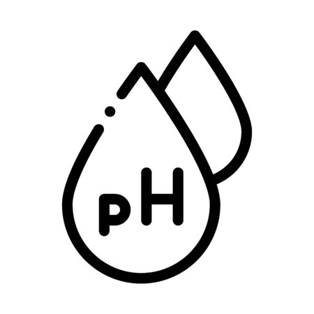 Neutral Ph Drop Icon Vector. Outline Neutral Ph Drop Sign. Isolated Contour Symbol Illustration