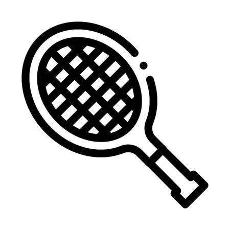 Tennis Racket Icon Vector. Outline Tennis Racket Sign. Isolated Contour Symbol Illustration