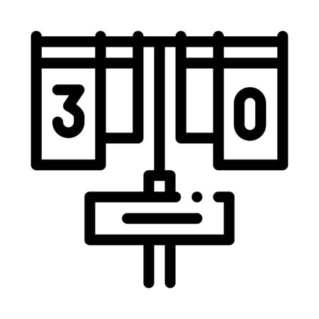 Game Match Board Icon Vector. Outline Game Match Board Sign. Isolated Contour Symbol Illustration Vectores