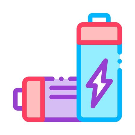 Nuclear Waste Container Vector Thin Line Icon. Scrap Nuclear Materials Environmental Pollution, Chemical, Radiological Contamination Linear Pictogram. Dirty Soil, Water, Air Contour Illustration