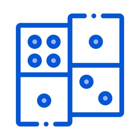 Interactive Kids Game Dominoes Vector Sign Icon Thin Line. Baby And Adult Dominoes Children Playing Gaming Items Pieces Linear Pictogram. Joyful Things Contour Illustration Stock Illustratie