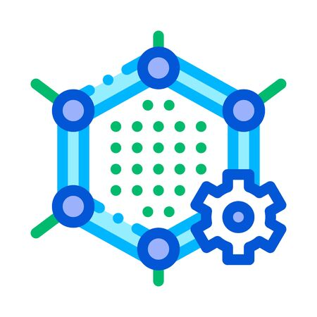 Artificial Graphene Technology Vector Sign Icon Thin Line. Artificial Intelligence Graphene Technology Concept Linear Pictogram. Technology Support, Cyborg, Microchip Contour Illustration