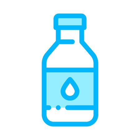 Healthy Water In Plastic Bottle Vector Sign Icon Thin Line. Bio Health Ecology Clean Purity Water Linear Pictogram. Organic Healthcare Vitamin Nutrition Contour Illustration