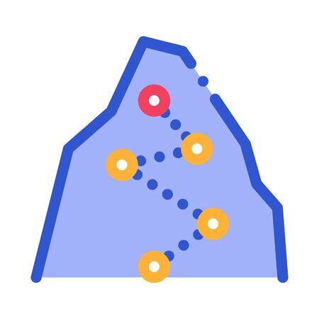 Direction Way Points Mountain Alpinism Vector Icon Thin Line. Compass, Mountain Direction And Burner Mountaineering Alpinism Equipment Concept Linear Pictogram. Contour Outline Illustration Ilustração