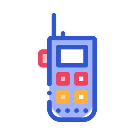 Climbing Gps Assistant Device Alpinism Vector Icon Thin Line. Compass, Mountain Direction And Burner Mountaineering Alpinism Equipment Concept Linear Pictogram. Contour Outline Illustration