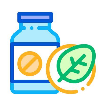 Bio Medicines Supplements Icon Vector Thin Line. Contour Illustration Illusztráció