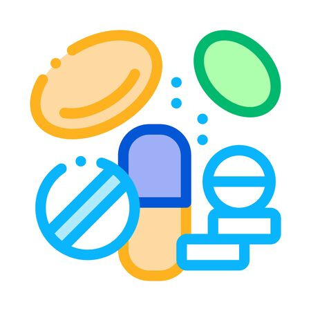 Medicines Supplements Icon Vector Thin Line. Contour Illustration