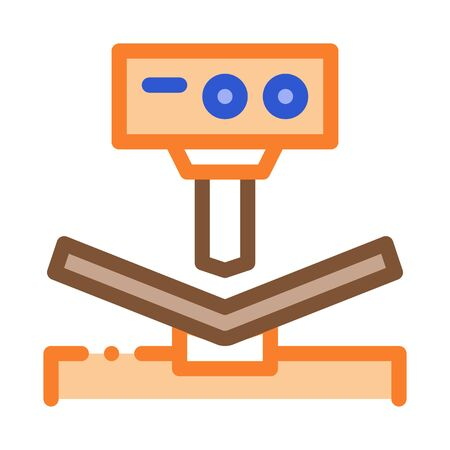 Breaking Tool Factory Metallurgical Icon Vector Thin Line. Contour Illustration Ilustração